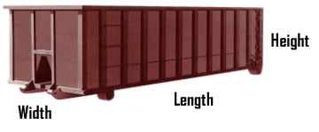 dumpster dimensions for Raleigh dumpster rentals